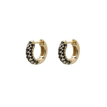 Timeless Tiny Hoops Black Spinel