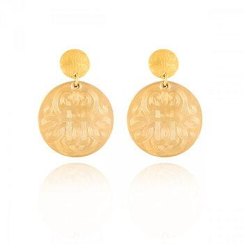 Gas Bijoux - Diva Earrings - Small - 24 karat guld