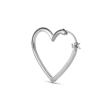 Heart of Love Earrings Sterling Silver