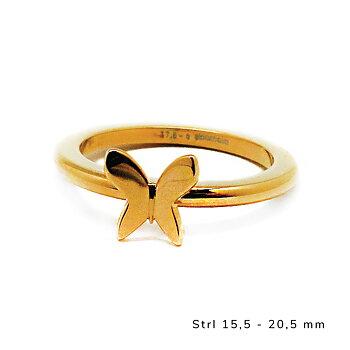 Ring fjäril, guld