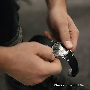 """Klockarmband """"älskad"""" , svart läder - 3 bredder"""