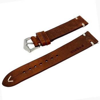 """Klockarmband """"älskad"""" , brunt läder - 3 bredder"""