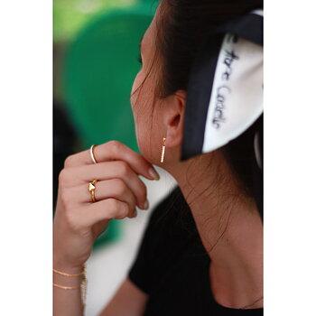 Korta exklusiva strassörhängen, guld- 60 st stenar