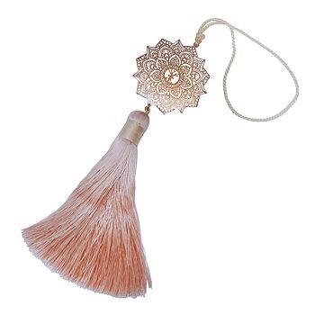Smyckesdetalj Mandala maxi rosé, champagne silkestofs | Yggdrasil