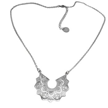 Mandala Necklace chain, Steel