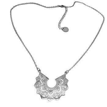 Mandala halsand chain, stål
