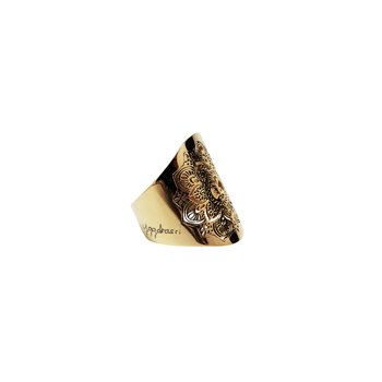 Mandala ring, guld | Yggdrasil