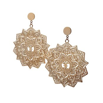 Mandala Earrings maxi, Rose gold