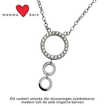 Strasshalsband 2 barn - Fint mamma barn halsband i allergivänligt stål | C Stockholm mor dotter son smycken