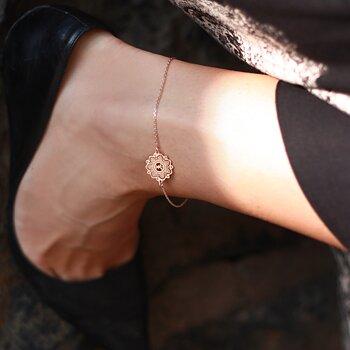 Mandala fotlänk mini, rosé | Yggdrasil