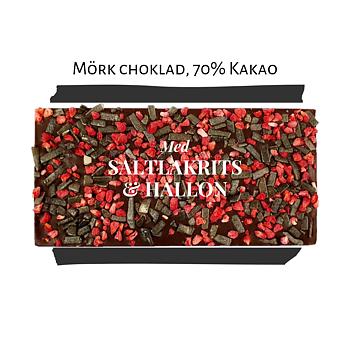 Chokladkaka, Saltlakrits & Hallon, 70% kakao - Pralinhuset