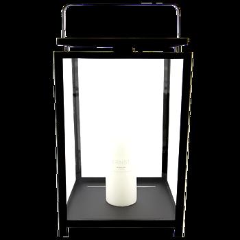 Ljuslykta för blockljus, 42 cm svart - ERNST