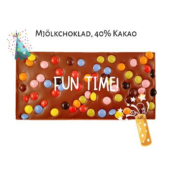 Chokladkaka, Fun Time, 40% kakao - Pralinhuset