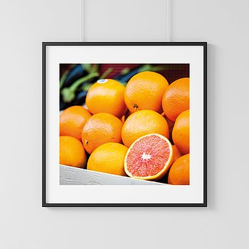 Milan orange fruit Poster
