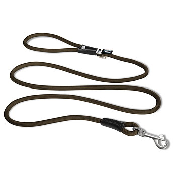 Curli Stretch Comfort Leash, Brun