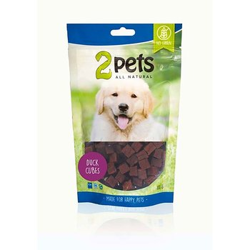 2Pets Dogsnack Duck Cubes 100g