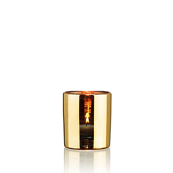 HURRICANE LAMP SMALL, Ljuslykta Gold