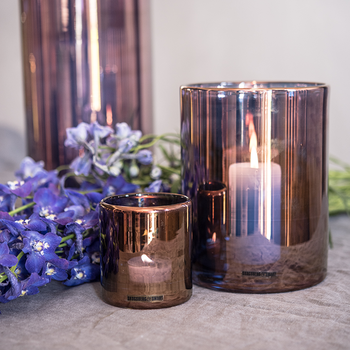 HURRICANE LAMP SMALL, Bronze