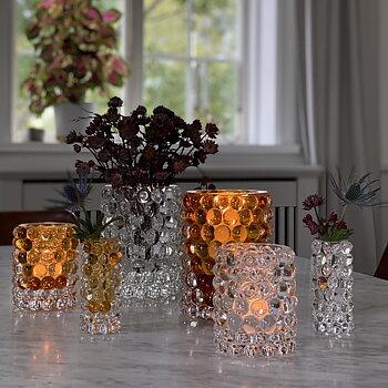 HURRICANE BOULE MINI, Amber Mini Vase