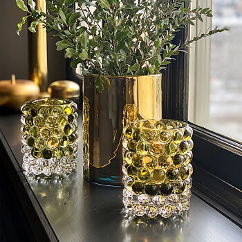 HURRICANE LAMP BOULE, Olive