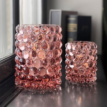 HURRICANE LAMP BOULE LARGE, Rosé