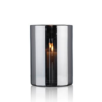 HURRICANE LAMP LARGE, Ljuslykta Silver