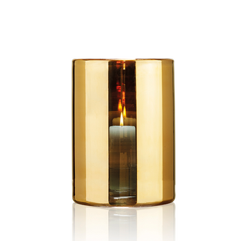 HURRICANE LAMP LARGE, Ljuslykta Gold