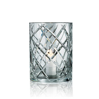 HURRICANE CRYSTAL LAMP LARGE, Ljuslykta Clear