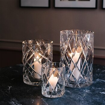 HURRICANE CRYSTAL LAMP LARGE, Clear