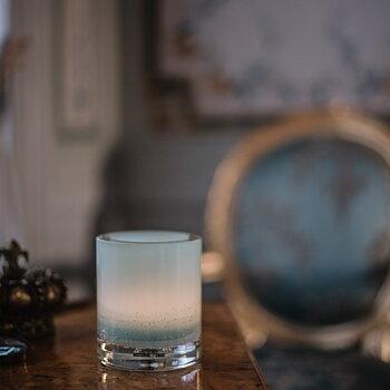 HURRICANE LAMP SODA, Ljuslykta Aqua