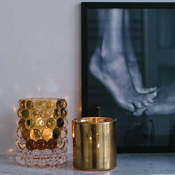 HURRICANE LAMP BOULE, Ljuslykta  Amber