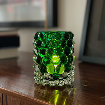 HURRICANE LAMP BOULE, Green