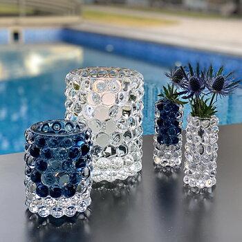 HURRICANE BOULE MINI, Smoky Blue Mini Vase