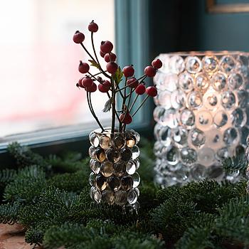HURRICANE BOULE MINI, Smoky Grey Mini Vase