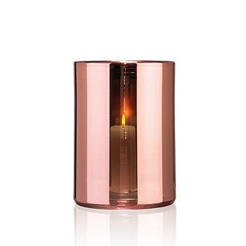 HURRICANE LAMP LARGE, Ljuslykta Rosé