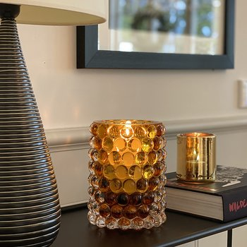 HURRICANE LAMP BOULE LARGE, Ljuslykta Amber