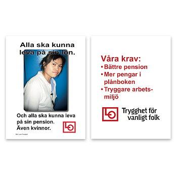Flygblad Alla ska kunna leva på sin lön - Tryck & PDF