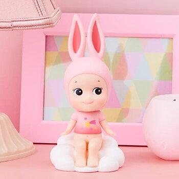 Bobbing Head Pink Rabbit Cloud style