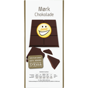 DARK CHOCOLATE TABLET  - DARK  60% - EASIS