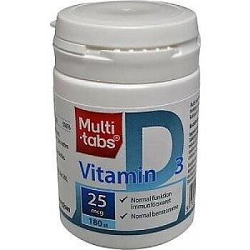 MULTI-TABS VITAMIN D, 25 MCG, 180 ST TABL.