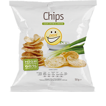 EASIS CHIPS SOUR CREAM & ONION 50G