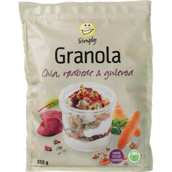Granola med Rödbeta Morötter 350g Easis
