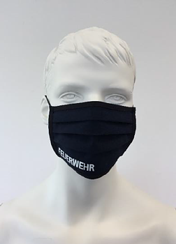 Maske, vaskbar med PTFE - Membran. Med tekst trykk fra vår leverandør av brannbekledning TEXPORT