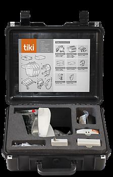 TIKI PRO Åndedrettsvern, Et komplett utstyr for regelmessig bruk av primært en bruker. Alt utstyr passer i vesken, inkludert flere masker.