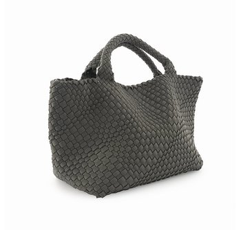 HAND BRAIDED SHOPPER GREY CEANNIS