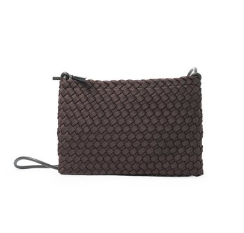 FLAT BAG BROWN HAND BRAIDED CEANNIS
