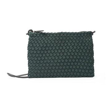 FLAT BAG GREEN HAND BRAIDED CEANNIS