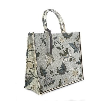 SHOPPER WHITE FLOWER LINEN CEANNIS