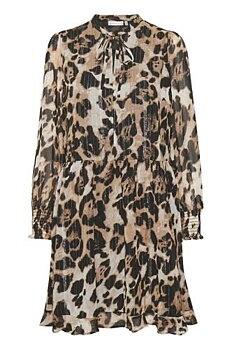 CharleyIW Dress Beige Animal InWear