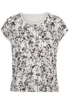 Sicilien Tshirt Black pressed Flower In Wear